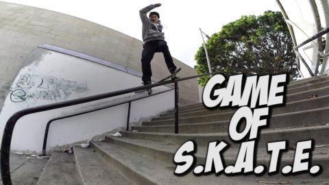 GAME OF SKATE ON A HANDRAIL & MUCH MORE !!! - A DAY WITH NKA - Nka Vids
