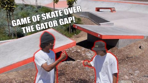 GAME OF SKATE OVER THE GATOR GAP!!! | Vinh Banh