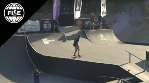 George POOLE 2sd Final Skate FISE Montpellier 2017 - FISE