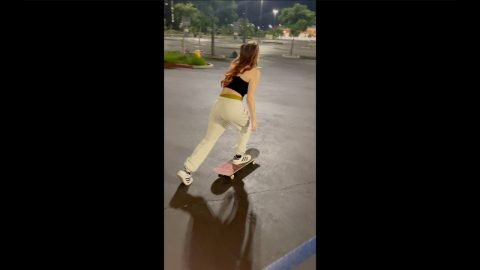Girl Skater Does Never Before Seen Trick! #shorts | Lamont Holt