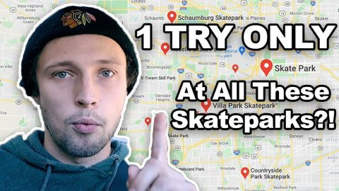 Giving Myself 1 TRY to LAND 1 TRICK at Every Chicago Suburbs Skatepark I Can Think of in 3 Hours | Max Williams