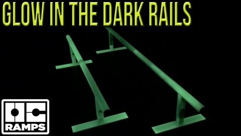 Glow in the Dark skateboard rails!  Skate in the dark! | OC Ramps