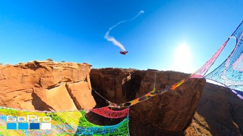GoPro Awards: Wingsuiter Flies Through Narrow Hole Over 400ft Canyon | GoPro