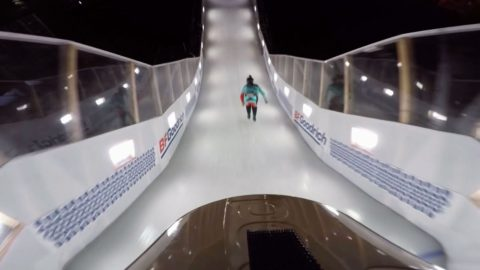 GoPro View: Claudio Caluori Takes on Crashed Ice Vet. Reed Whiting in Marseille - Red Bull