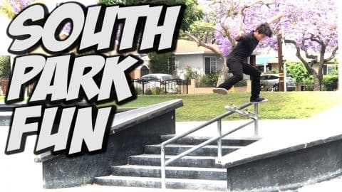 GREAT SKATE DAY AT SOUTH PARK & MORE !!! - A DAY WITH NKA - - Nka Vids Skateboarding