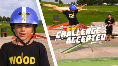 Grind The Polejam - Hot Wheels Challenge Accepted | Camp Woodward