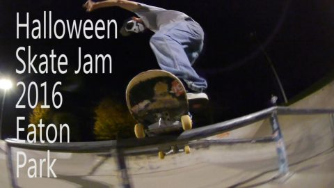 Halloween Jam 2016 Eaton Skate Park - Five eyes Skateboarding