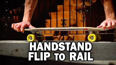 Handstand Flip to Rail: Kyle Matthew Hamilton || ShortSided - Brett Novak