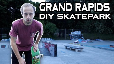 Having fun at Clemente DIY Skatepark in Grand Rapids Michigan | Max Williams