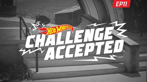 Heelflip Down The Stairs - Hot Wheels Challenge Accepted | Woodward Camp