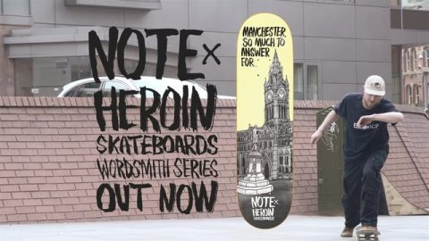 HEROIN-X-NOTE-WORDSMITH-CLIP - Heroin Skateboards