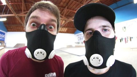 HIGH ELEVATION TRAINING MASKS GAME OF SKATE! - Braille Skateboarding