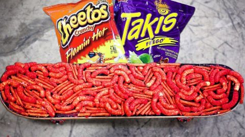 HOT CHEETOS AND TAKIS SKATEBOARD! - Braille Skateboarding