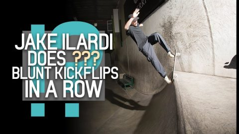 How Many Blunt Kickflips Can Jake Ilardi Do?! | The Berrics