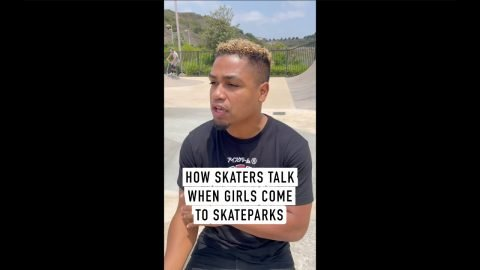 How Skaters Talk When Girls Come to Skateparks #shorts | Lamont Holt