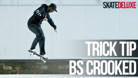 How to Backside Crooked Grind aka BS K-Grind | Skateboard Trick Tip | skatedeluxe - skatedeluxe