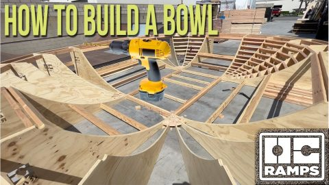 How to build a bowl - skate park or ramp   OC Ramps