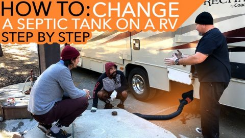 How To Change A Septic Tank On A RV(STEP BY STEP) | MannysWorld
