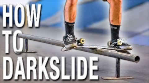 HOW TO DARKSLIDE THE EASIEST WAY TUTORIAL | Braille Skateboarding