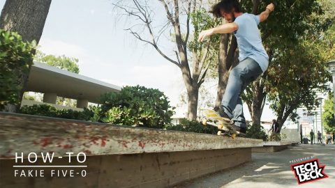 How-To Fakie Five-0 With David Reyes - TransWorld SKATEboarding