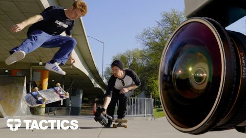 How to Film Skateboarding with a Fisheye Lens Part 2 | Follow Filming | Tactics | Tactics Boardshop