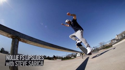 How to Nollie Frontside Lipslide with Steve Sarica | JonneyETV