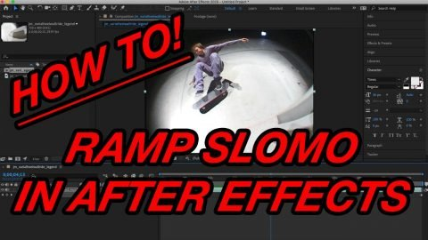 HOW TO RAMP SLOMO IN AFTER EFFECTS | A Happy Medium Skateboarding