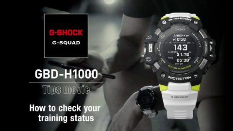 How to to check your training status - GBD-H1000 | G-SQUAD | #NeverGiveUp | gshockeu