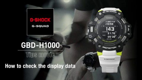 How to to display training data - GBD-H1000 | G-SQUAD | #NeverGiveUp | gshockeu