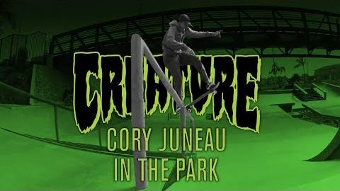 In The Park: Cory Juneau for Creature Skateboards - Creature Skateboards