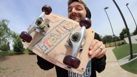 INCREDIBLE CLIPBOARD SKATEBOARD!! | YMIWSI EP 191 - Braille Skateboarding