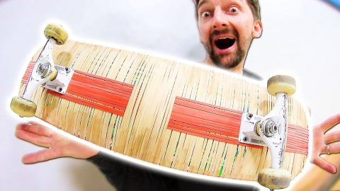 INCREDIBLE RUBBER BAND BOARD | YMIWSI Ep 181 - Braille Skateboarding
