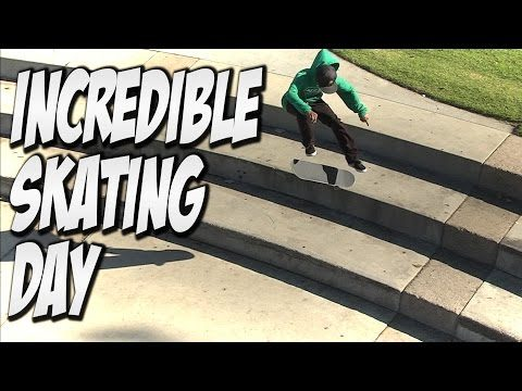 INCREDIBLE SKATE DAY WITH THE HOMIES !!! - A DAY WITH NKA - - Nka Vids Skateboarding