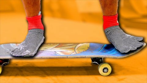 INDESTRUCTIBLE SOCKS ONLY GAME OF S.K.A.T.E. | Braille Skateboarding