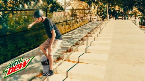Infinite Handrail Grind ft. Josh Katz | Mountain Dew - Mountain Dew