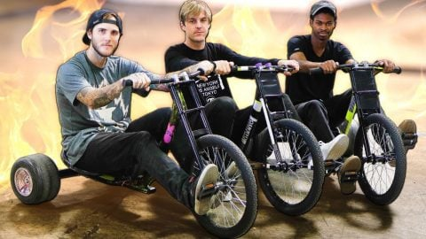 Insane Drift Trike Challenge! | Braille Skateboarding