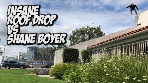 INSANE ROOF DROP VS SHANE BOYER !!! - NKA VIDS - | Nka Vids Skateboarding