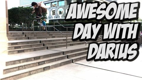 INSANE SKATE DAY WITH DARIUS AND VERONICA !!! - NKA VIDS - - Nka Vids Skateboarding