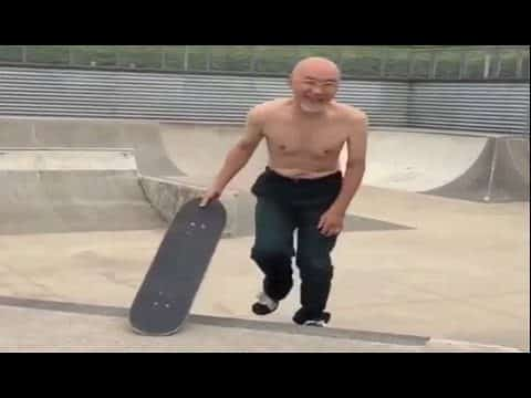 INSTABLAST! - 72 Year Old Man Skating Skatepark! Heavy Duty Slams! Wheelchair SD Street Ripping! - Metro Skateboarding