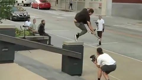 INSTABLAST! - Backyard Pool RIPPING!! Sercurity Guard GONE WILD!! FastPlant To 50-50 on Handrail!! - Metro Skateboarding