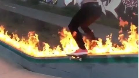 INSTABLAST! - Boardslide On Fire, Blind Skateboarding, Kickflip LA River, Matrix No Comply Flip | Metro Skateboarding