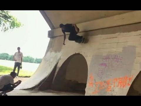 INSTABLAST! - Burnside Pillar Yank!! 360 Flip Into Swimming Pool Ride Away!! Crazy Doorway Carve!! - Metro Skateboarding