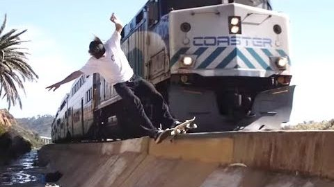 INSTABLAST! - HURRICANE VS TRAIN! Bigflip UP Rail? HUGE Kickflip Melon, Krook Nollie Heel Boardslide | Metro Skateboarding