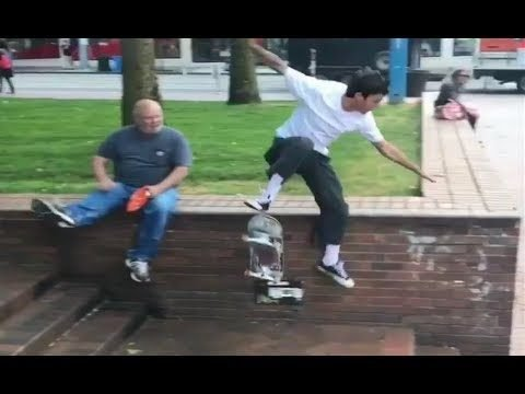 INSTABLAST! - Old Man Skate Stopper!?!! 360 Flip on SKETCHY ICE POND!! Full Cab Bs Noseblunt Hubba!! - Metro Skateboarding