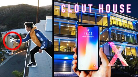 IPHONE X PHONE FLIP OFF CLOUT HOUSE ROOF - Chris Chann