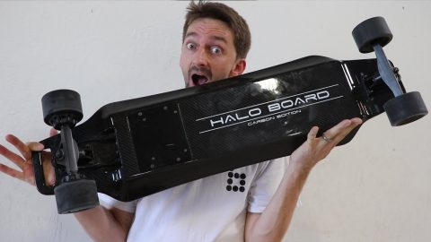 IS THIS THE BEST ELECTRIC SKATEBOARD? | HALO BOARD CARBON FIBER ELECTRIC SKATEBOARD - Braille Skateboarding