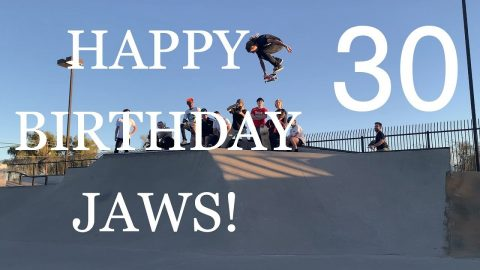 JAWS 30th BIRTHDAY WEEKEND + 30 SKATEPARKS IN ONE DAY! | A Happy Medium Skateboarding