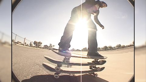 JEFF STEVENS TRIPLE BOARD RIDE DOWN CACTUS BANKS | A Happy Medium Skateboarding