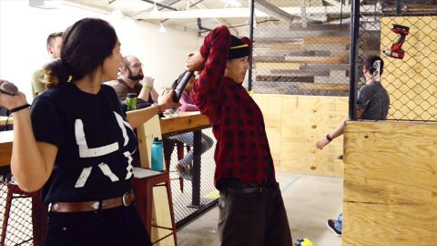 JENKEM - Axe Throwing w/ Louie Lopez to Celebrate his New Shoe | jenkemmag