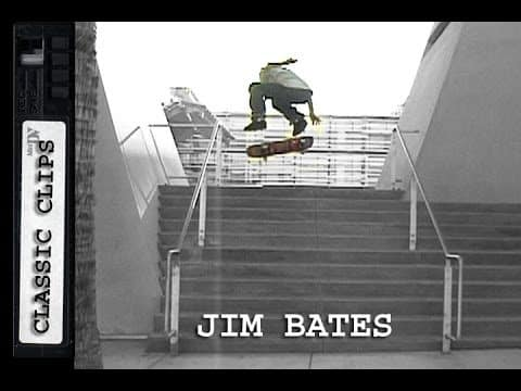 Jim Bates Skateboarding Classic Clips #268 - Skateintheday